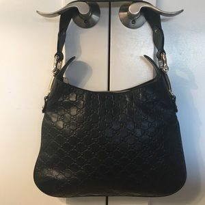 Guccisima Black Leather Gucci Bag Gently Worn